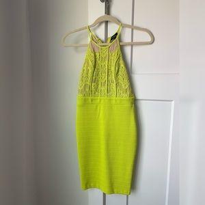 Lemon/lime color mini dress
